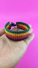 Bob Marley Rasta Reggae Jamaica Hippie Surfer Friendship Wax Cord Bracelet