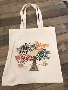 IN THE RAW Grocery Bag Shopping Tote 12 oz Cotton Canvas