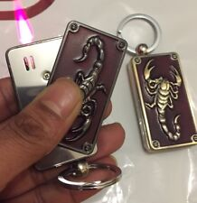 The  Scorpion Style Key Ring Metal Windproof Turbo Jet Cigarette  Gas Lighter