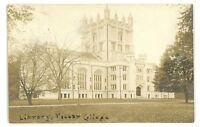 RPPC Gothic Library VASSAR COLLEGE Poughkeepsie NY Vintage Real Photo Postcard