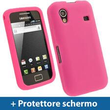 Rosa Custodia per Samsung Galaxy Ace S5830 Silicone Skin Case Cover Protezione