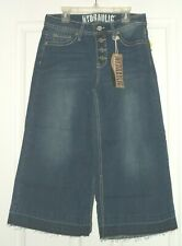 *HYDRAULIC JEAN CAPRI/CROPPED SIZE 6 - 12 DISTRESSED WIDE LEG EMBROIDERED NWT
