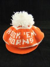 Vintage 1970's University Texas UT Austin Longhorns Hook Em Knit Hat Cap Beanie