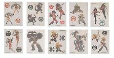 Bakugan Temporary Tattoos - Set of 10 Larger Tats