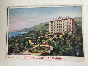 Cartolina Pubblicitaria Hotel Excelsior Bordighera Azzali c3
