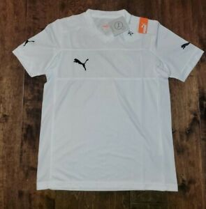 NEW PUMA POWERCAT 3.12 SOCCER SHIRT WHITE TRAINING JERSEY YOUTH BOYS SIZE XL $38