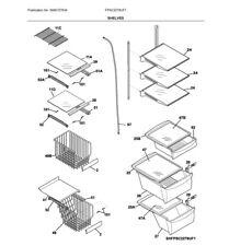Frigidaire OEM 240443357 Freezer Glass Shelf