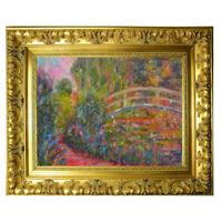 "Oil pastel artwork painting ""Memories of Monet""Claude Monet Bridge 5x7"