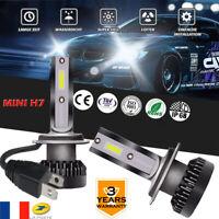 Le phare mini H7 2PCS 6000K 55W LED Hi/Lo Beams Remplace les ampoules 10000LM