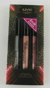 NYX Lip Lingerie Gloss Trio Gloss, Shimmer, Glitter
