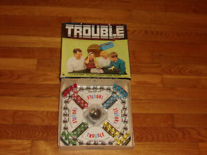 Vintage 1965 Kohner Pop-O-Matic Trouble Game Complete in Box Nice Condition