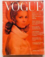 Vogue Paris Avril 1962 cover Catherine Deneuve by Helmut Newton cult issue rare