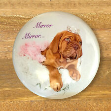 Dogue De Bordeaux Puppy Princess Pocket Compact Handbag Mirror, Dog Lovers Gift