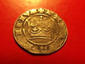 Rare Bohemia Half Grossus John of Luxembourg 1310 - 1346 medieval silver coin