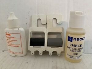 4 Photography Darkroom Items Paterson Made in England Edwal Hypo-Chek Nacco Chec