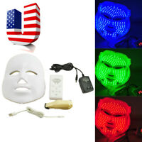 3Color LED Light Therapy Photon Facial Face Mask Skin Rejuvenation Beauty Device