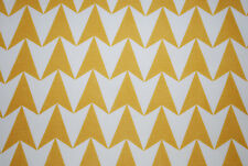 """Aldgate East Major"" soft furnishing fabric by Flock, mustard, by the metre"
