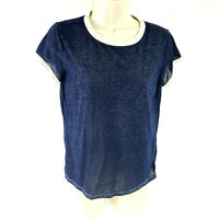 American Eagle Navy Blue Crew Neck Casual Short Sleeve T-Shirt Womens Size Small