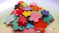 Felt Flower Small Mixed Bumper Pack (50) Mixed Colour Shape Craft Embellishments