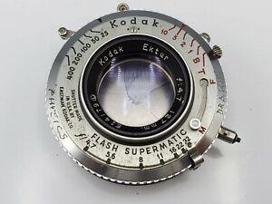 Kodak Ektar 127mm F4.7 Lens in Flash Supermatic Shutter + Flange for 4x5 Cameras