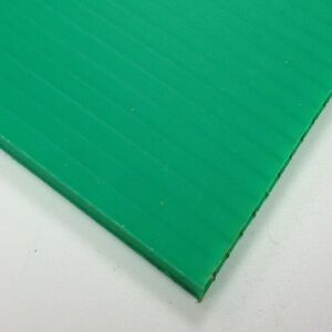 4mm Green Correx Fluted Corrugated Plastic Sheet 9 SIZES TO CHOOSE