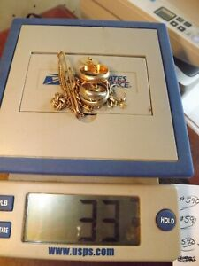 14k And 10K yellow and white gold SCRAP, 33 Grams Total .62 ounces Lot #602
