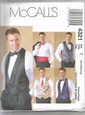 McCall's Sewing Pattern 4321, Vests, Bow Tie, Cummerbund,  Adult 34 - 44, New