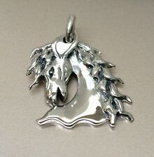 925 Sterling Silver Handmade Wild Horse Pendant Sold without a Chain / Necklace