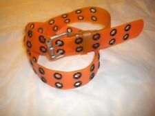 BRAND NEW 2 HOLES PLASTIC COMBINATION OF ORANGE AND BLACK 1  1/2 IN WIDE SIZE XL