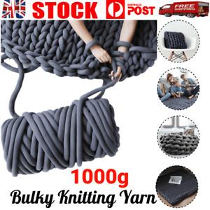 1000g Chunky Gaint Yarn DIY Bulky Arm Knitting Roving Crocheting Super Soft New