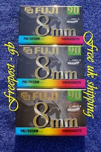 3 x HIGH QUALITY FUJI P5-90 VIDEO 8mm / Hi8 VIDEO CAMCORDER TAPES / CASSETTES