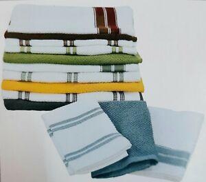 Strofinacci da cucina 100% cotone set canovacci spugna asciugamani cucina