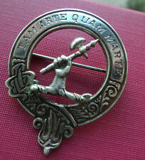 Plata Broche Insignia escocés-clan Wright-H/m 1985 John Fraser de Inverness