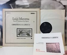 LUIGI MAVERNA - OBBEDIENZA E LIBERTA' 2 LP EDIZIONI PAOLINE ANNI 60 CR 30.9-10