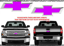 Pink Vinyl Bowtie Decals For 2014-2018 Chevrolet Silverado New Free Shipping USA