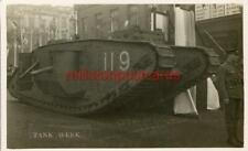 More details for real photographic ww1 postcard of tank week, nottingham, nottinghamshire