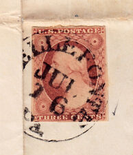 #11A-3 Cent 1851-57, FLS black BELLEFONTE JUL 16 Pa to Col. Benzinger 1853