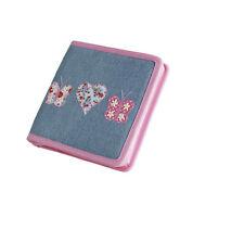 25 x Job Lot Girls Denim Butterfly CD Cases Party Bag Gift CD-7552 By Katz