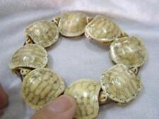 Charming Japanese hand carved cattle bone bracelet/bangel lovely tortoise figure
