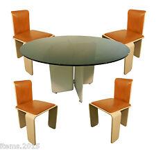 """TABLE De Salle A Manger 1960/1970 En Bois Laque Et Metal Chrome"""" + 4 CHAISES"""