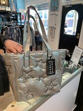 SILVER WITH STARS SOFT TOTE BAG
