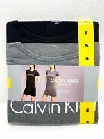 2 Pack Calvin Klein Underwear Nightshirt Black/Grey Ultra soft Size Small - NWT