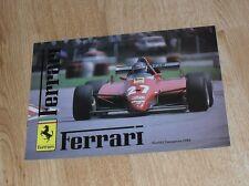 Ferrari Brochure 1982 BB 512i 400i 308 GTB 308 GTS Mondial QV UK