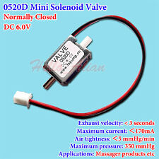 DC 6V Small Mini Electric Solenoid Valve N/C Normally Closed for Gas Air Valve
