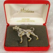 Carolee Limited Edition 1994 Dalmatian Gold Tone Crystal Rhinestone Dog Pin (Hh)