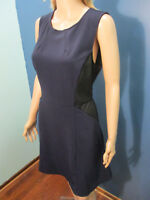 XXL navy blue and black zip up stretch knit dress by MOSSIMO