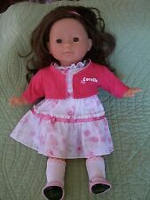 "COROLLE 14"" DOLL WITH BROWN HAIR AND BROWN EYES  EUC! SHE'S BEAUTIFUL"
