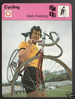 NIELS FREDBORG Denmark Olympic Games Cycling 1978 SPORTSCASTER CARD 48-14