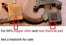 HP DV7 GPU Thermal Pad Heatsink Copper Shim 481144-001 507170-001 507169-001