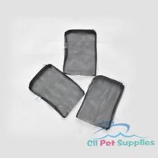 """3 pcs Filter Media Mesh Bags 8"""" x 5.5"""" Zipper Reusable aquarium fish koi pond"""